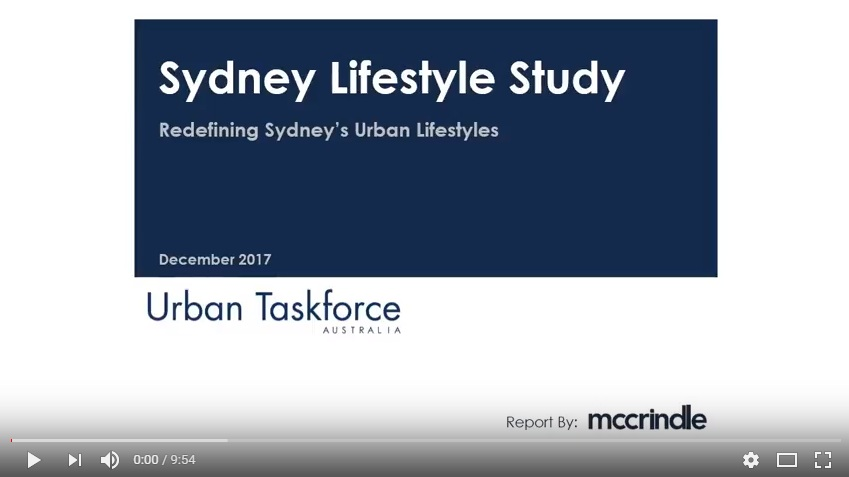 Urban Taskforce Sydney Lifestyle Study